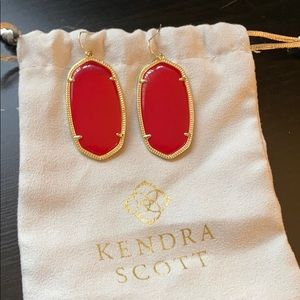 Kendra Scott Gold and Red Danielle Earrings